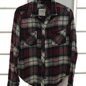 Abercrombie &Fitch flannel button down shirt.